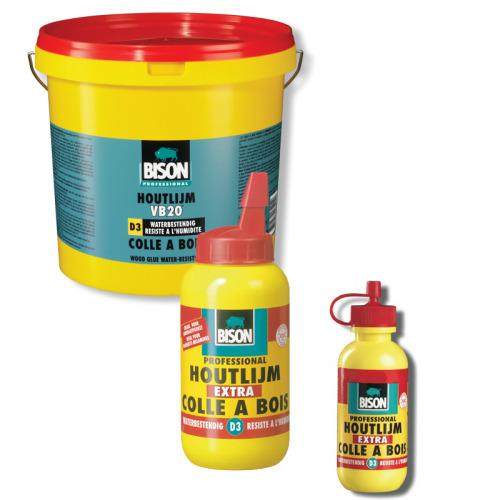 Houtlijm Bison D3 waterbestendig, flacon 250 gram