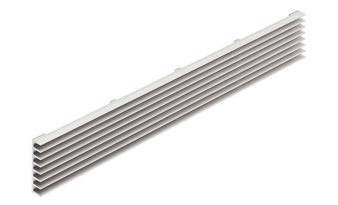 Ventilatierooster aluminium 480 x 56 mm