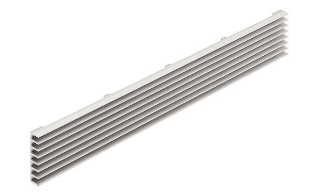 Ventilatierooster  aluminium 480 x 104 mm