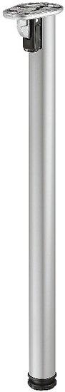 Tafelpoot inklapbaar Aluminium kleurig