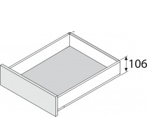 Blum legrabox RVS, 106 mm