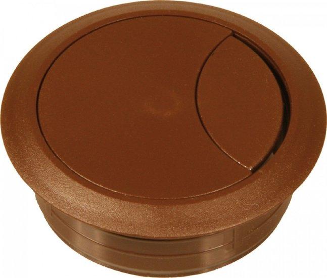 Kabeldoorvoer 60 mm, bruin