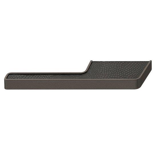 L-vormige titaankleurige en zwarte meubelgreep