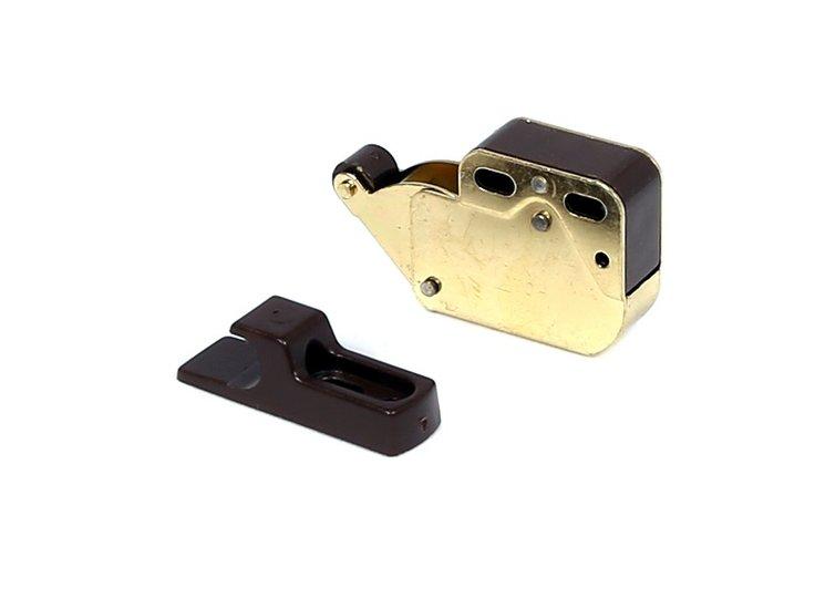 Mini-latch vermessingd / bruin
