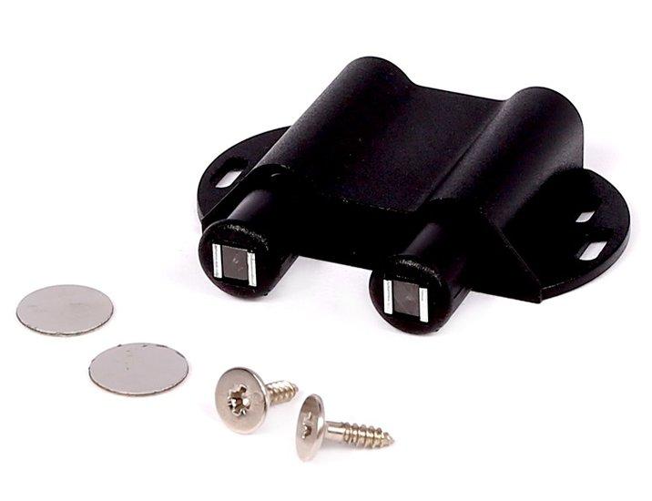 Dubbele druksnapper met magneet,Zwart