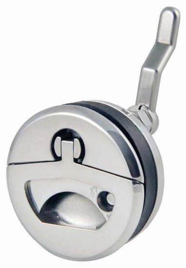 Waterdichte ronde luikring met slot en sleutel, 50 mm