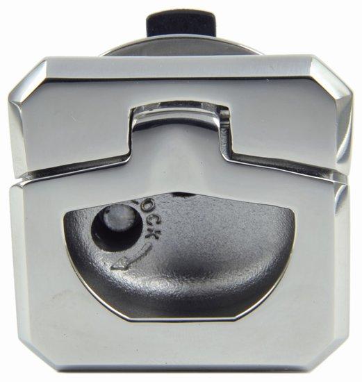 Vierkante luikring met slot en sleutel, 45 mm