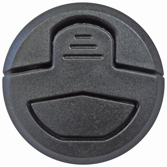 Zwarte ronde luikring, 51 mm
