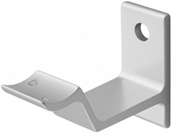 Leuninghouder hol, keilbout bevestiging zilver