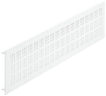 Ventilatierooster aluminium, wit, 1000 x 100 mm
