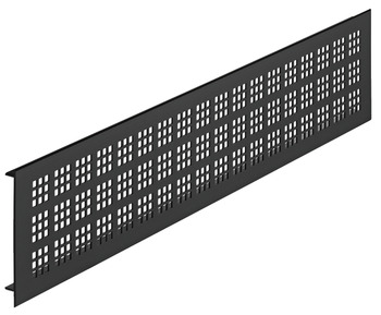 Ventilatierooster aluminium, zwart, 500 x 100 mm