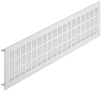 Ventilatierooster aluminium, zilverkleurig, 500 x 100 mm