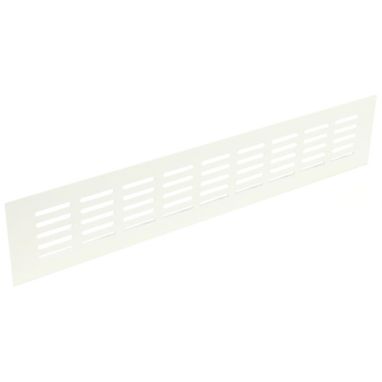 Ventilatierooster aluminium, wit, 600 X 100 mm