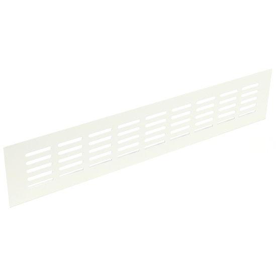 Ventilatierooster aluminium, wit, 400 X 80 mm