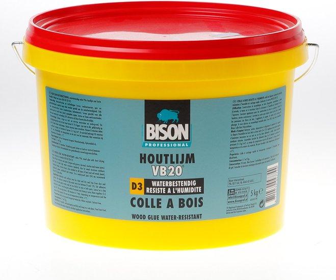 Houtlijm Bison D3 waterbestendig 5 KG