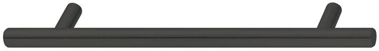 Zwarte sokkelgreep RVS, 2 sokkels, 168 mm