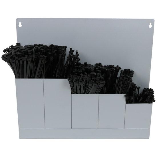 Houder Groot Kabelbinders Zwart 500 stuks