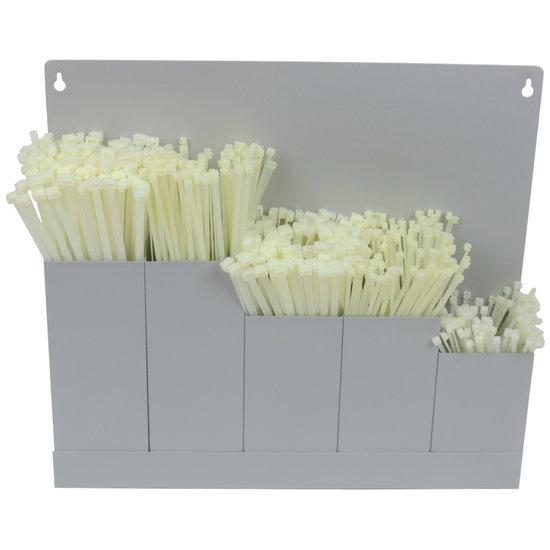 Houder Groot Kabelbinders Wit 500 stuks