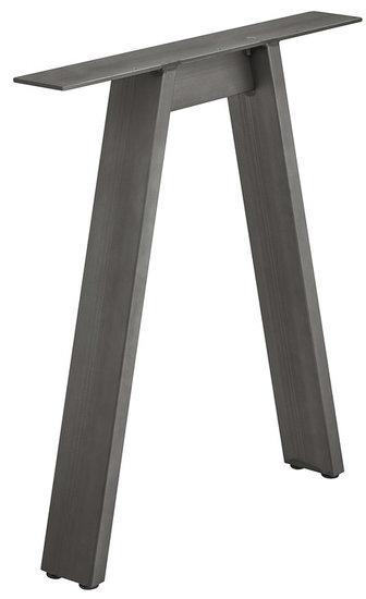 Tafelonderstel vorm A, ruw staal