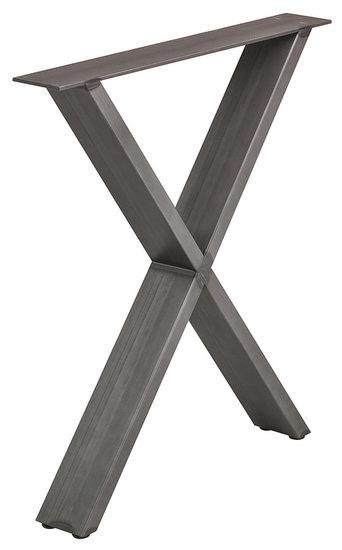 Tafelonderstel vorm X, gepoedercoat