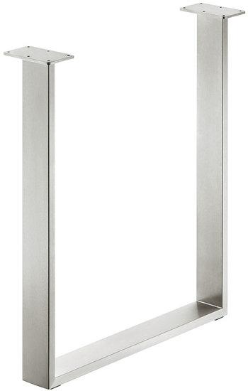 2x Tafelonderstel 80x20 mm, roestvrij staal, geborsteld