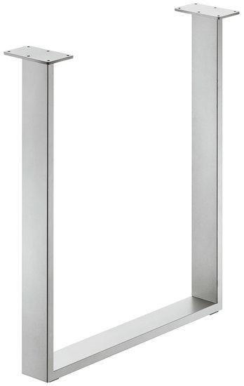 Tafelonderstel 80x20 mm, staal, wit aluminium