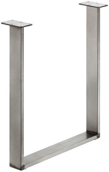 Tafelonderstel 80x20 mm, ruw staal, gelakt