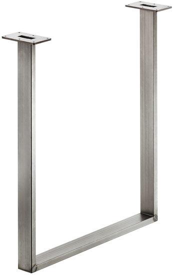 Tafelonderstel 60x20 mm, ruw staal, gelakt