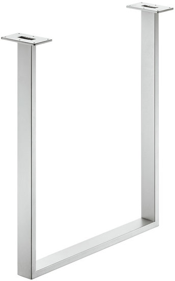 Tafelonderstel 60x20 mm, staal, wit aluminium