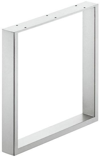 Bankonderstel 60x20 mm, staal, wit aluminium