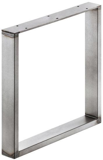 Bankonderstel 60x20 mm, ruw staal, gelakt