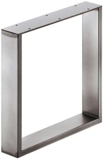 Bankonderstel 80x20 mm, staal, ruwstaal gelakt