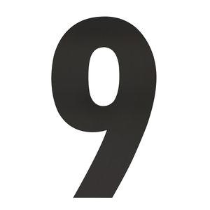 Zwart huisnummer 9 XXL