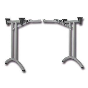 Klaptafelbeslag D-vorm staal, zilvergrijs RAL 9006