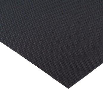 Zwarte antislipmat, 524 x 2000 mm